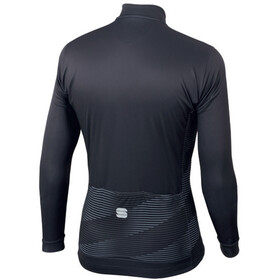 Sportful Moire Thermal LS Jersey Men anthracite/yellow fluo